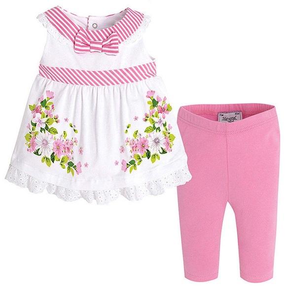 9d4fa28d6c367 Mayoral Matching Sets | Baby Girl 3m24m Pinkwhite Legging Set | Poshmark